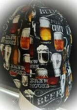 """Welder's Cap """"BREW HOUSE""""BEAT THE HEAT!lined with Coolmax Dri-Fit Fabric!!"""