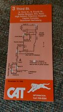 1988 CAT Bus Schedule Timetable Polyclinic Hospital Zembo Mosque Capitol Complex