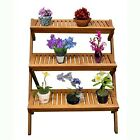 Vifah Outdoor Wood Three-Layer Plant Stand V499 Plant Stand NEW
