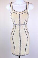 NWT - Herve Leger - Ivory Bodycon Bandage Dress - Size XXS