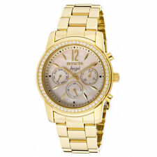 Invicta 11772 Women's Angel MOP Dial Gold Plated Steel Watch