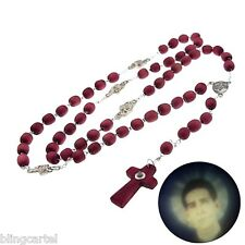 Santo Toribio Romo Rosario Rosary Rose Scented Wood Stanhope Peephole Necklace