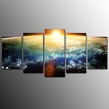 Living Room Canvas Print Sun In Space Wall Canvas Art Painting-5pcs-No Frame