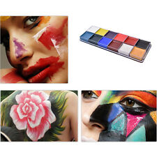 Beauty Face Body Paint Oil 12 Colors Painting Art Party Make Up Set