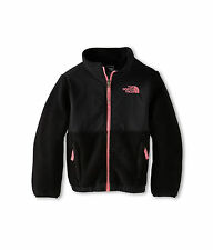 NWT The North Face Kids Denali Jacket Girls Size XXS 5 5T Black Pink  Coat $109