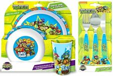 Teenage Mutant Ninja Turtles Half Shell Heroes 6 Piece Dinnerware & Cutlery Set