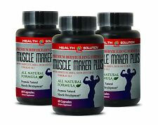 Magnesium - MUSCLE MAKER PLUS - Sexual Health - Lean Muscle - 3Bot 180Ct