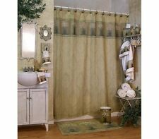 Floral Meadow Shower Curtain by Blonder Home Flower Gold Green Ivory Daisy