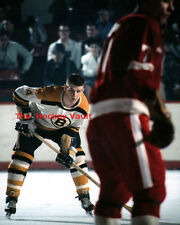 #4 ROOKIE Bobby ORR LURKS In the BACKGROUND Red WINGS Bruins CUSTOM Lab 8X10 NEW