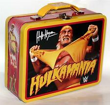 "WWE HULK HOGAN Hulkmania 6""x 7-3/4"" Tin Tote WORK HOBBY TOOL SNACK LUNCH BOX New"