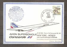 COVER LETTRE LAST CONCORDE FLIGHT NEW YORK MEXICO 31/10/1982 AIR MAIL