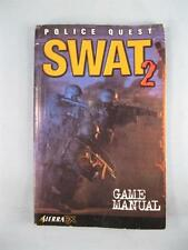 Police Quest Swat 2 Game Manuel 1998 Sierra FX Yosemite Entertainment Used (O)