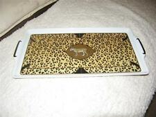 Lynn Chase Amazonian Jaguar Serving Platter Tray 24 Karat Gold decoration