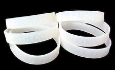 Lung Cancer Awareness Bracelets Lot of 12 Clear Translucent Silicone IMPERFECT