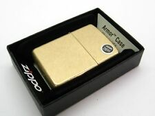 ZIPPO Full Size Tumbled BRASS Finished Armor Windproof Lighter! 28496