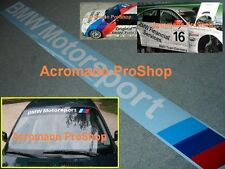 "36""91.4cm BMW Motorsport Windshield Decal Sticker F32 F30 E90 E46 E36 E60 E63 X1"