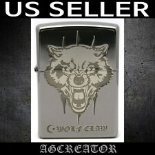 New Japan Korea zippo lighter wolf claw BNE black ice double sides engraved