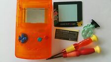 CARCASA COMPLETA COMPATIBLE GAME BOY COLOR POKEMON2 C ORANGE +COLOR BUTTON NEW