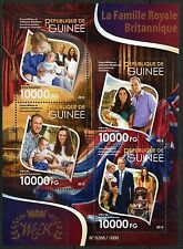 GUINEA 2015 THE BRITISH ROYAL FAMILY WILLIAM KATE GEORGE &  CHARLOTTE SHEET  NH