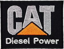 CAT Diesel Power (black) iron on/sew on cloth patch  (tg)