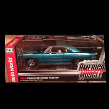 1969 Plymouth Road Runner SEAFOAM TURQUIOSE 1:18 Auto World 1035