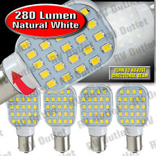 4 pk 1156 / 1141 Base LED Replacement Bulb 280 LUM 10-24v Natural White