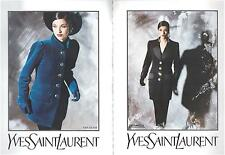 ▬► PUBLICITE ADVERTISING AD Yves Saint Laurent haute couture David Seidner 5p 92