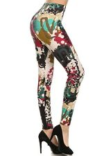 Women's Abstract Print Lined High Quality Spring Leggings