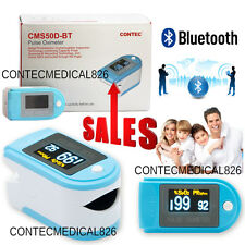 Contec CMS50D-BT OLED Finger Tip Pulse Oximeter Bluetooth APP Analysis SPO2 PR