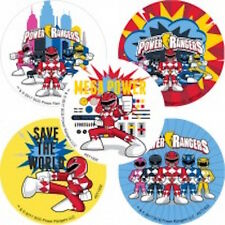 15 Power Rangers Mega Power Stickers Party Favors Teacher Supply