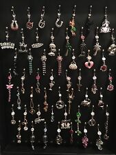 Mixed Lot Of 20 Belly Button Navel Rings 316L Surgical Steel 14g New Items