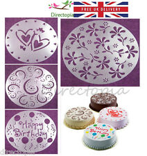 4 x Large Cake Stencils Birthday Decorating Stencil Valentine Wedding Reusable