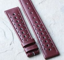 Light burgundy 20mm vintage watch 1960s/70s racing strap 20mm rally strap NOS