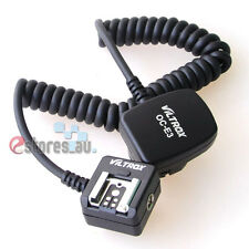 TTL Off Camera Hot Shoe Flash Sync Cable Cord For Canon EOS 70D DSLR Camera