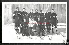 Enge Ice Hockey team rppc Klosters Graubünden Switzerland 30s
