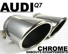AUDI Q7 06-14 CHROME EXHAUST TIPS MUFFLER TAIL PIPE QUATTRO SLINE V6 V8 TDI FSI