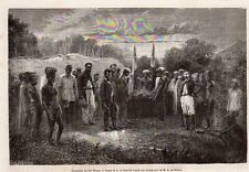 FUNERAILLES CHEF WATON CHIEF FUNERAL NOUVELLE CALEDONIE NEW CALEDONIA 1868 PRINT
