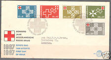 """Netherlands FDC First Day Cover """"Hundred Years( Centenary) of  Dutch Red Cross"""""""