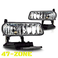 For Chevy Silverado Suburban Tahoe Clear Lens Chrome Housing Fog Lights Lamps