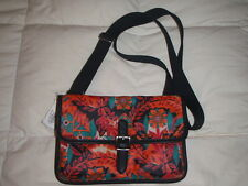 NEW* Fossil Handbag Bag Keyper Mini Crossbody Floral $58 RETAIL Red Orange