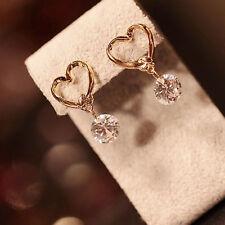 Vivid And Great In Style Women's Heart Style Korean Zircon Stud Earrings Jewelry
