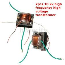 2pcs 10kv High Voltage Transformer High frequency Booster coil inverter 20x17x15