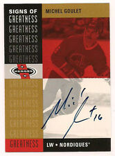 2001 UD Signs of Greatness HOF Auto Michel Goulet Quebec Nordiques