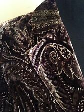 Peter Nygard Collection Brown & Gold Velveteen Jacket Top-Size 6, EUC