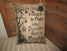Primitive Stenciled Pillow - Magic in the Night - Halloween