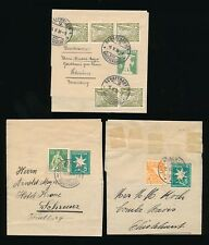 SWITZERLAND STATIONERY NEWSPAPER WRAPPERS...3 ITEMS...5 + 15c 5 + 35c 5 + 5 x 3c