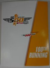 2016 Indianapolis 500 Celebrated 100th Running Program With Starting Line-Up