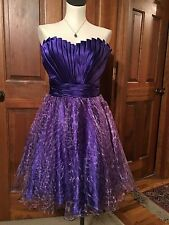 Dark And Light Purple Stunning Tony Bowls Cocktail Short Prom Dress Size 4