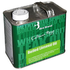 Bird Brand Boiled Linseed Oil Traditional Wood Treatment Gloss Finish 2.5 Litre