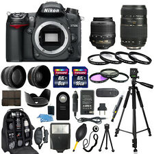 Nikon D7000 Digital Camera + 18-55mm VR + 70-300mm + 30 Piece Accessory Bundle